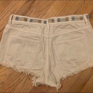 Free People Ivory Shorts